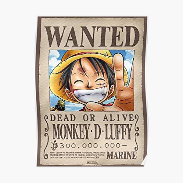 Manga One Piece: Monkey D. Luffy Poster