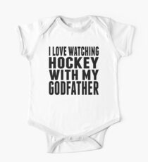 I Love Watching Hockey With My Godfather Kids Clothes