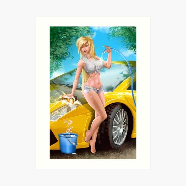 Car Wash Shorts Art Print