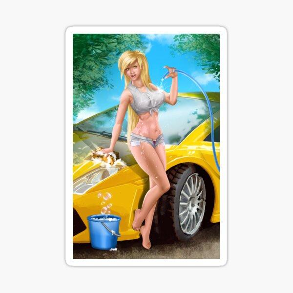 Car Wash Shorts Sticker