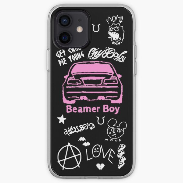 Lil Peep Beamer Boy Tattoo Design iPhone Soft Case