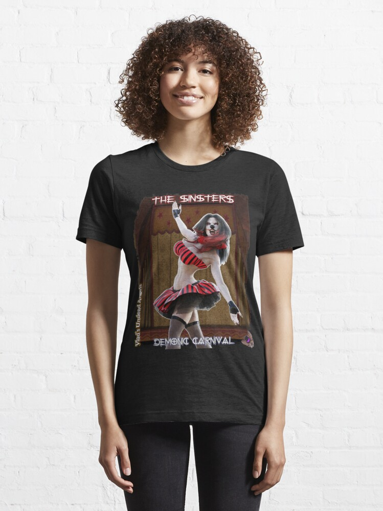 Alternate view of Demonic Carnival: The Sinsters Shattered Dreams Essential T-Shirt