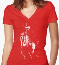 CLINT EASTWOOD Women's Fitted V-Neck T-Shirt