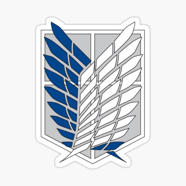 attack on titan logo Sticker