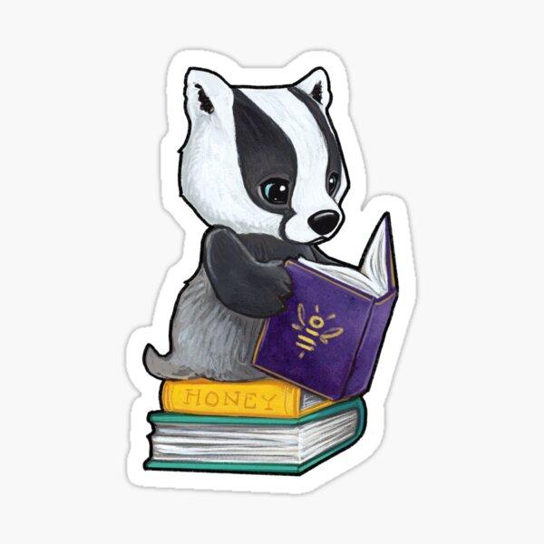 Honey books badger Sticker