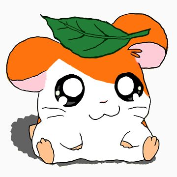 Hamtaro with Leaf by alschni