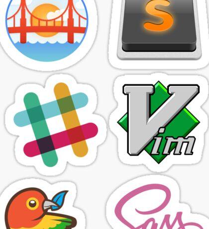 Web dev mix - Get the cool stuff here Sticker