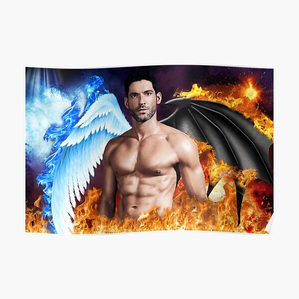Lucifer TV Show Photo Poster Imprimé Série Fonte Tom Ellis Saison Morningstar