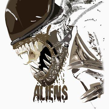 Alien Xenomorph Shadow Tee by BFGSM0121
