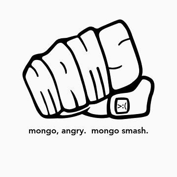 Mongo Angry Mongo Smash Fist Logo by AngryMongo