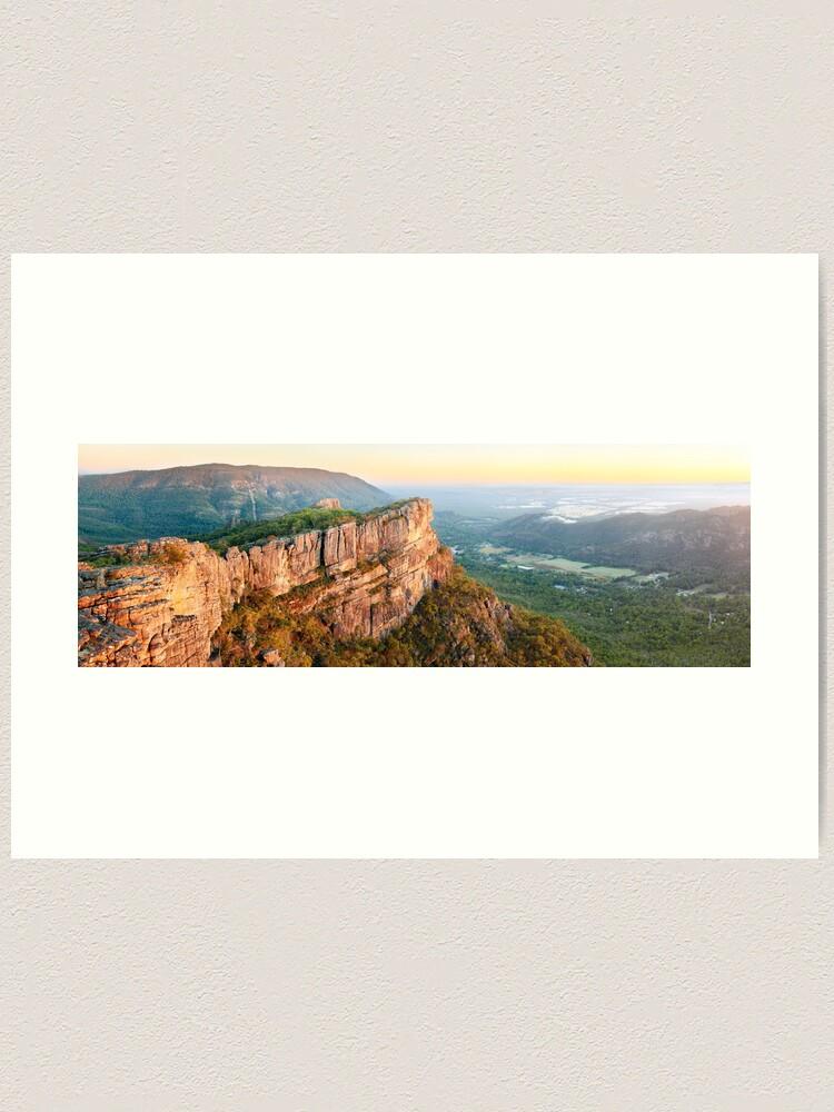 Alternate view of Relph Peak, Grampians National Park, Australia Art Print