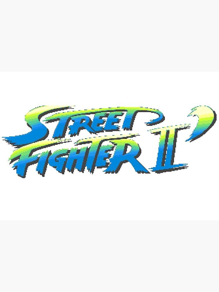 Street Fighter Ii Logo But Cool Art Board Print By Robin Redbubble