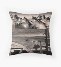 Pottery Wagon Throw Pillow