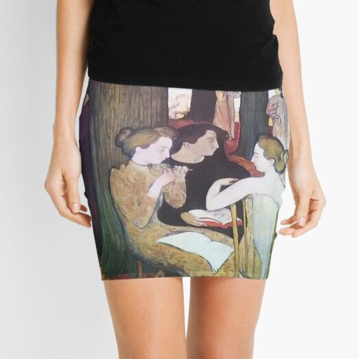 The Muses, by Maurice Denis Mini Skirt