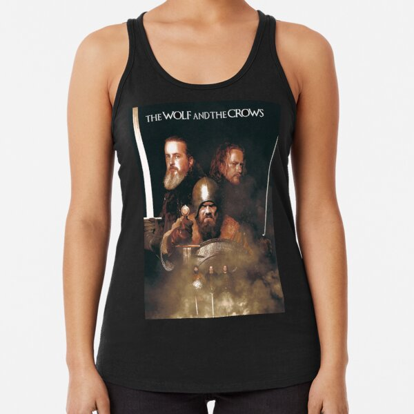 The Wolf and The Crows Banner Racerback Tank Top