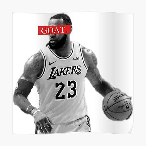 LeBron James GOAT Basketball Sports NBA Legend Design Poster