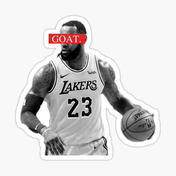 LeBron James GOAT Basketball Sports NBA Legend Design Sticker