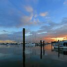Scarborough Boat Harbour at sunrise. Brisbane, Queensland, Australia. by Ralph de Zilva
