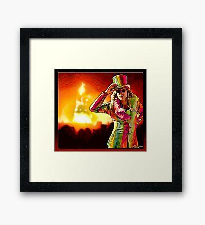 Burning Man Framed Print