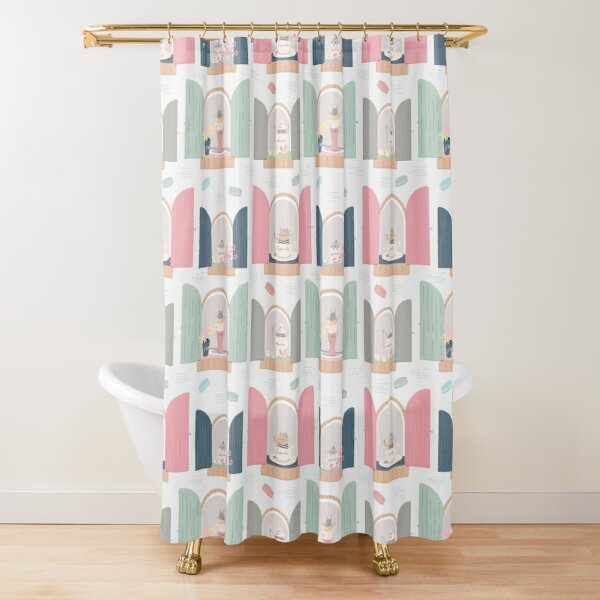 French Cafe Kitties | Coffee Gifts for Her Shower Curtain