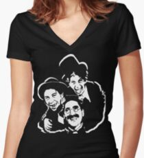 marx brothers t-shirt Women's Fitted V-Neck T-Shirt