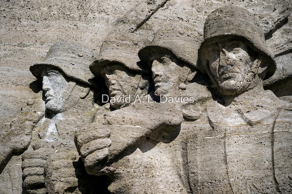 German soldiers. by David A. L. Davies