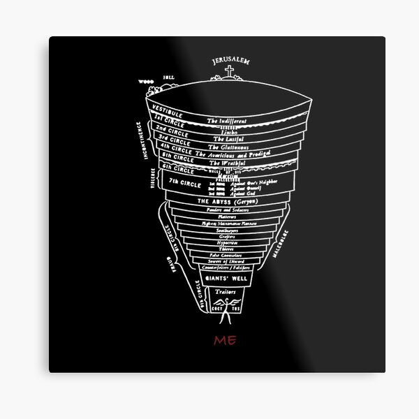 Dante's Inferno Structure - High Quality Metal Print