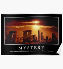 Mystery: Inspirational Quote and Motivational Poster Poster