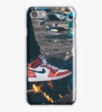 Jordan Sneakers On Fire iPhone Case/Skin