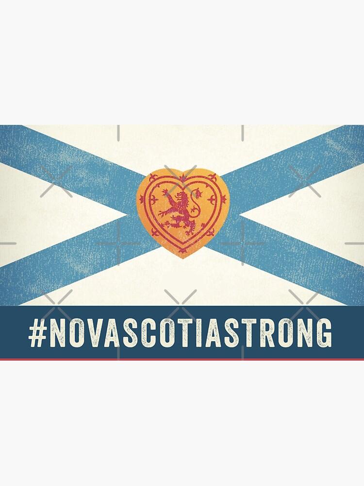 Nova Scotia Strong Flag by GlowbugDesign