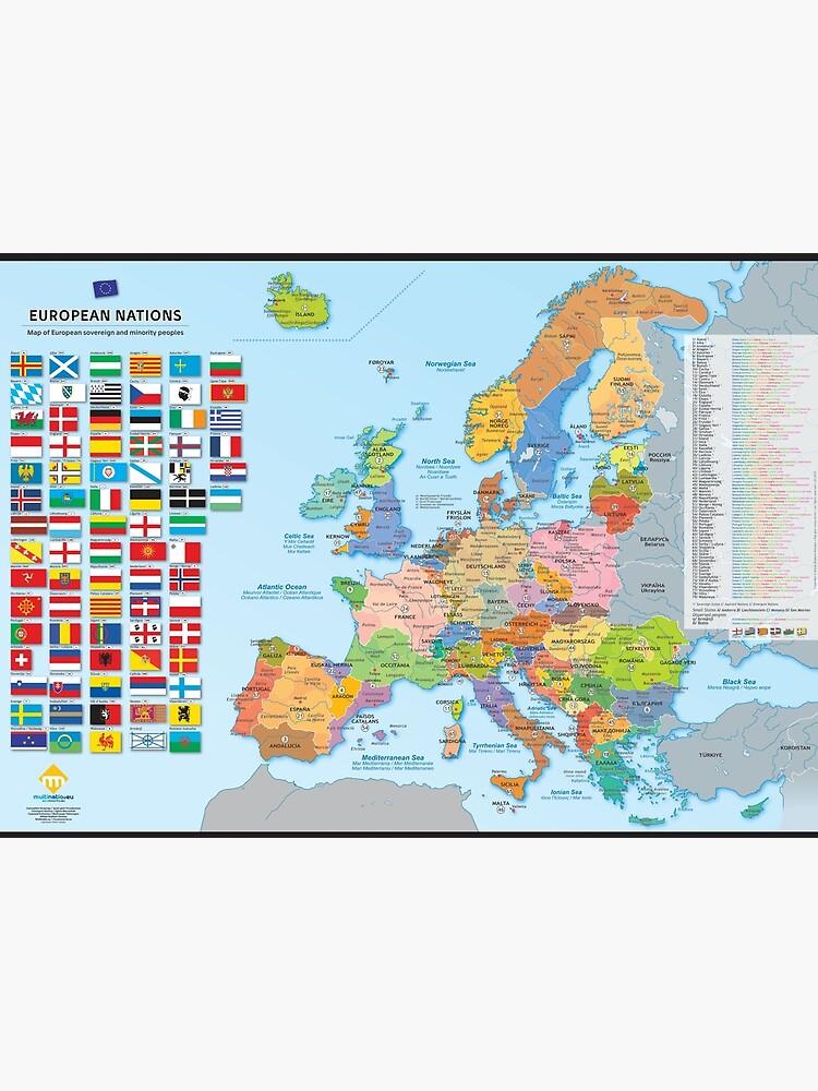 «Carte des nations d'Europe (multilingue)» par Multinatio