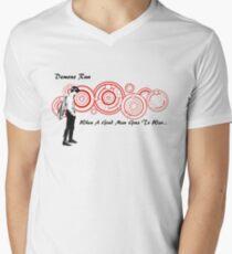 Drwho galigrafics Men's V-Neck T-Shirt