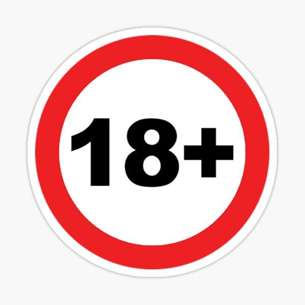18+ Sticker