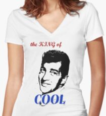 dean martin t-shirt Women's Fitted V-Neck T-Shirt