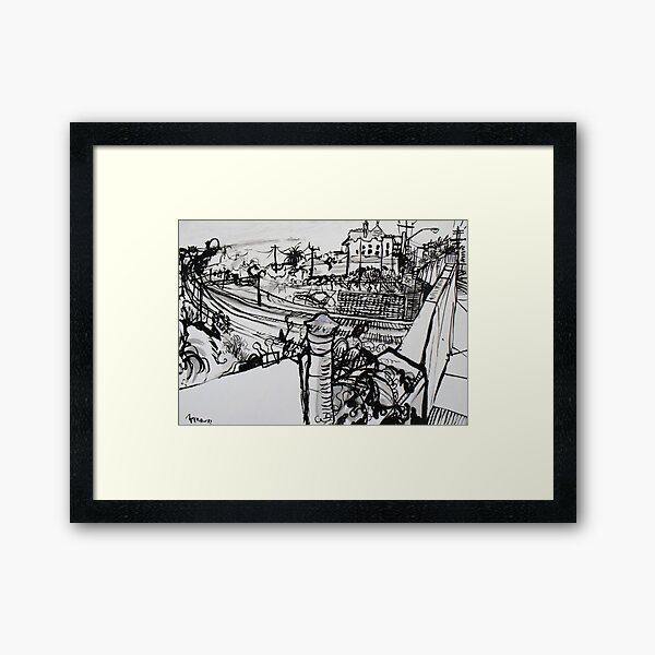 Raleigh Street, Footscray, 2012 Framed Art Print