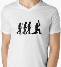 evolution of cricket Men's V-Neck T-Shirt
