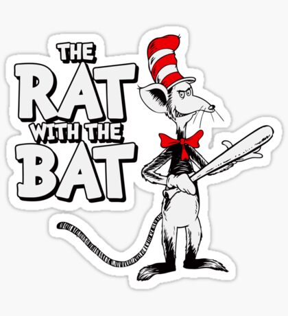 The Rat With The Bat Sticker