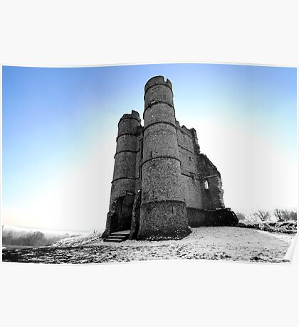 Donnington Castle In The Snow Poster