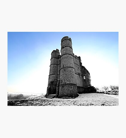 Donnington Castle In The Snow Photographic Print