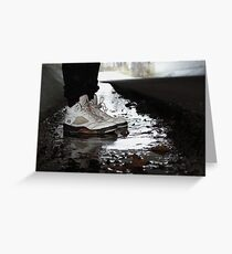 Jordan Sneakers In Water Greeting Card