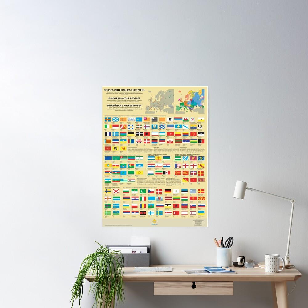 Poster «Affiches des drapeaux des peuples minoritaires d'Europe»