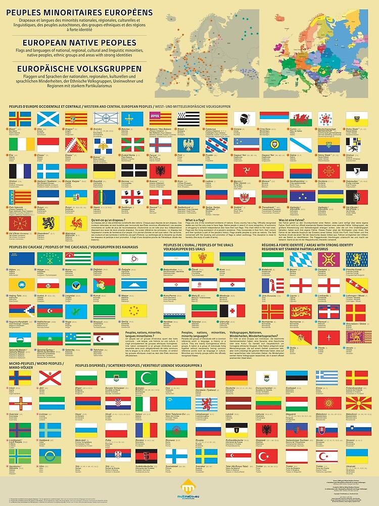 «Affiches des drapeaux des peuples minoritaires d'Europe» par Multinatio