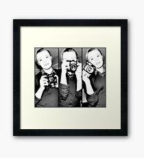 Vintage Pixel Framed Print