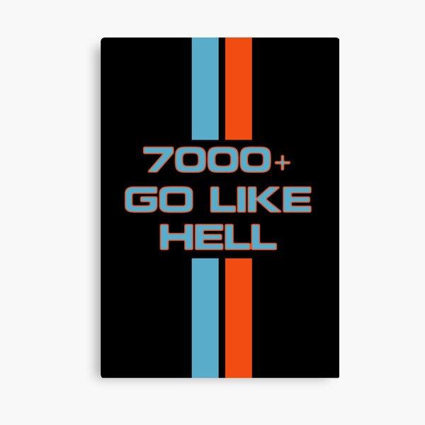Go Like Hell Canvas Print
