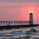 Manistee Sunset by Sonya Lynn Potts