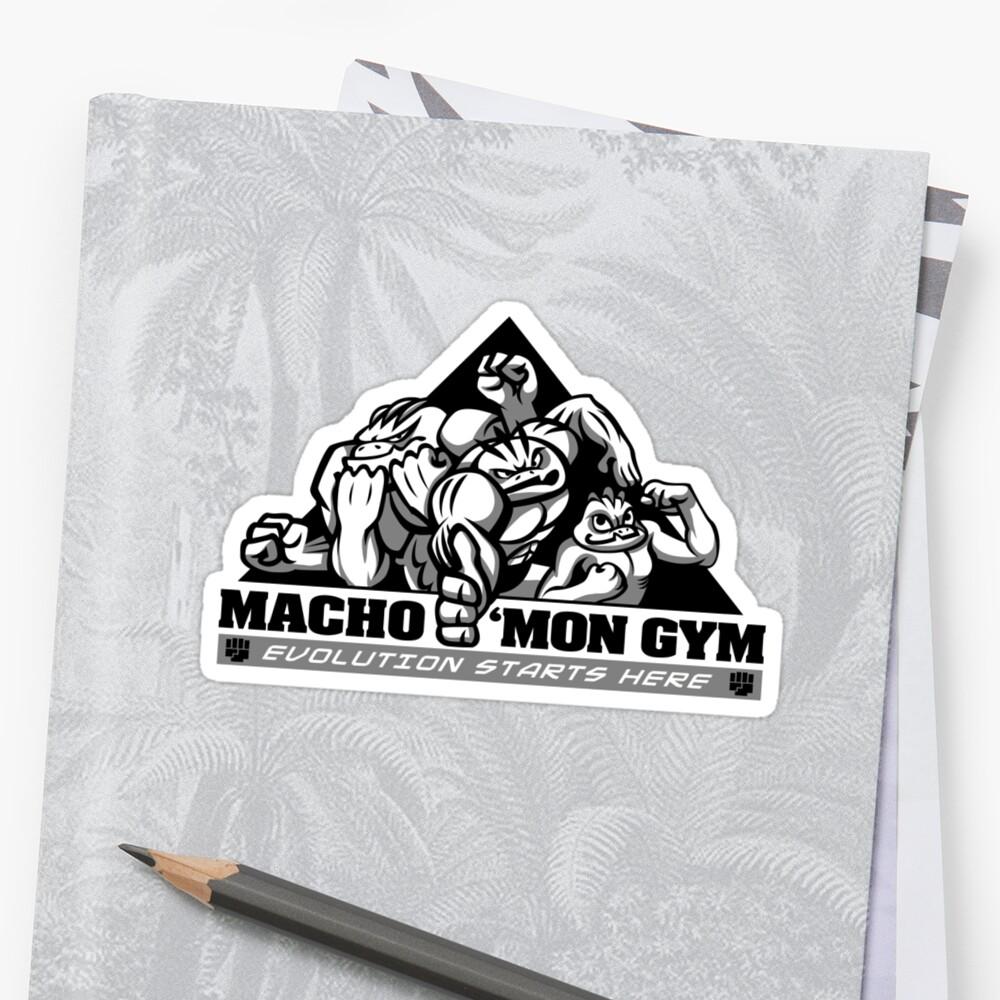 Macho'mon Gym by Kari Fry