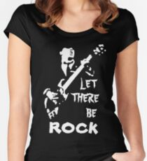 ac dc t-shirt Women's Fitted Scoop T-Shirt
