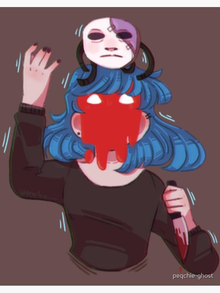Sacrifice Sally Face Fanart Art Board Print By Peqchie Ghost Redbubble