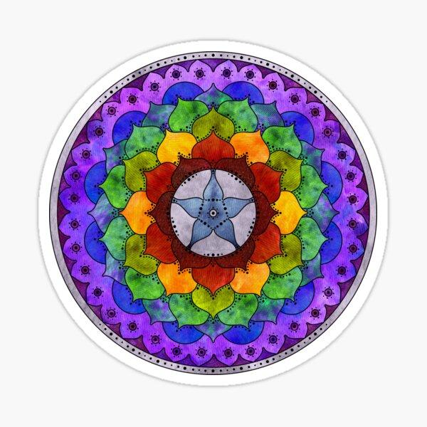 Star Mandala Rainbow Sticker