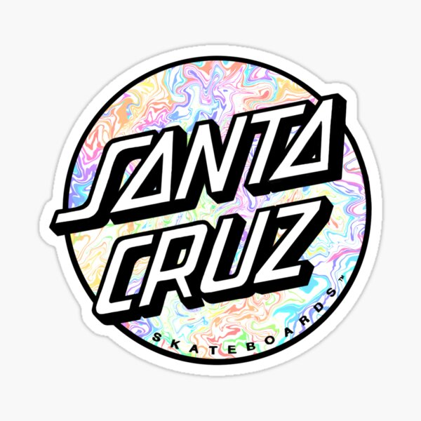 Rainbow Santa Cruz  Sticker